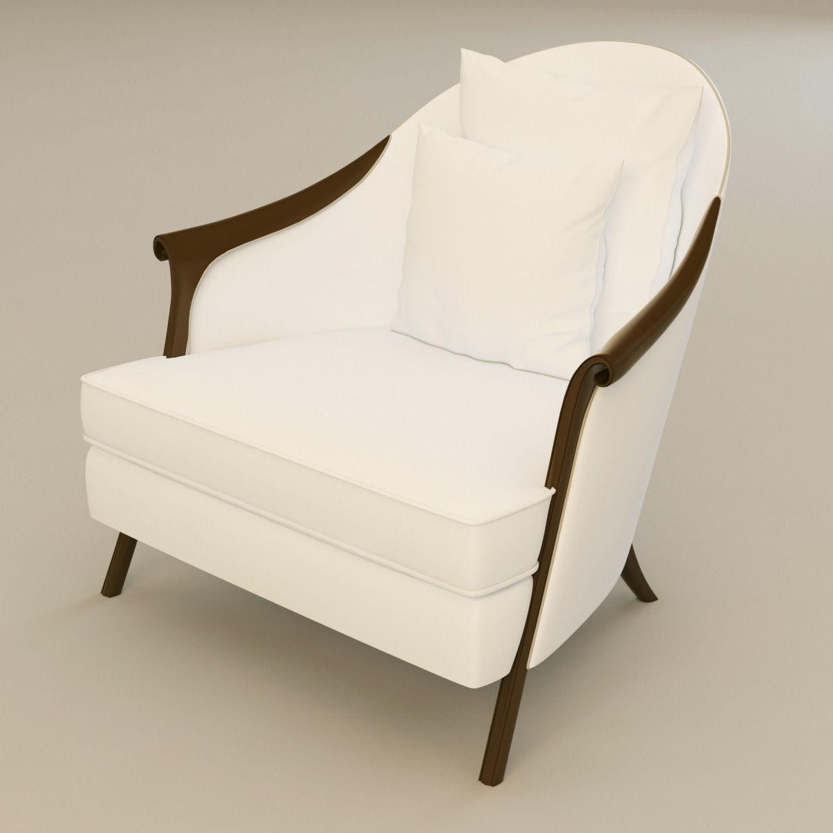 Christopher guy poltrona armchair 3d model max obj 3ds for Poltrona 3d