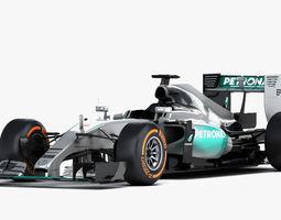 F1 Mercedes AMG W06 Formula 2015 3D Model