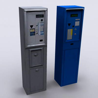 parking meter   model game ready max cgtradercom