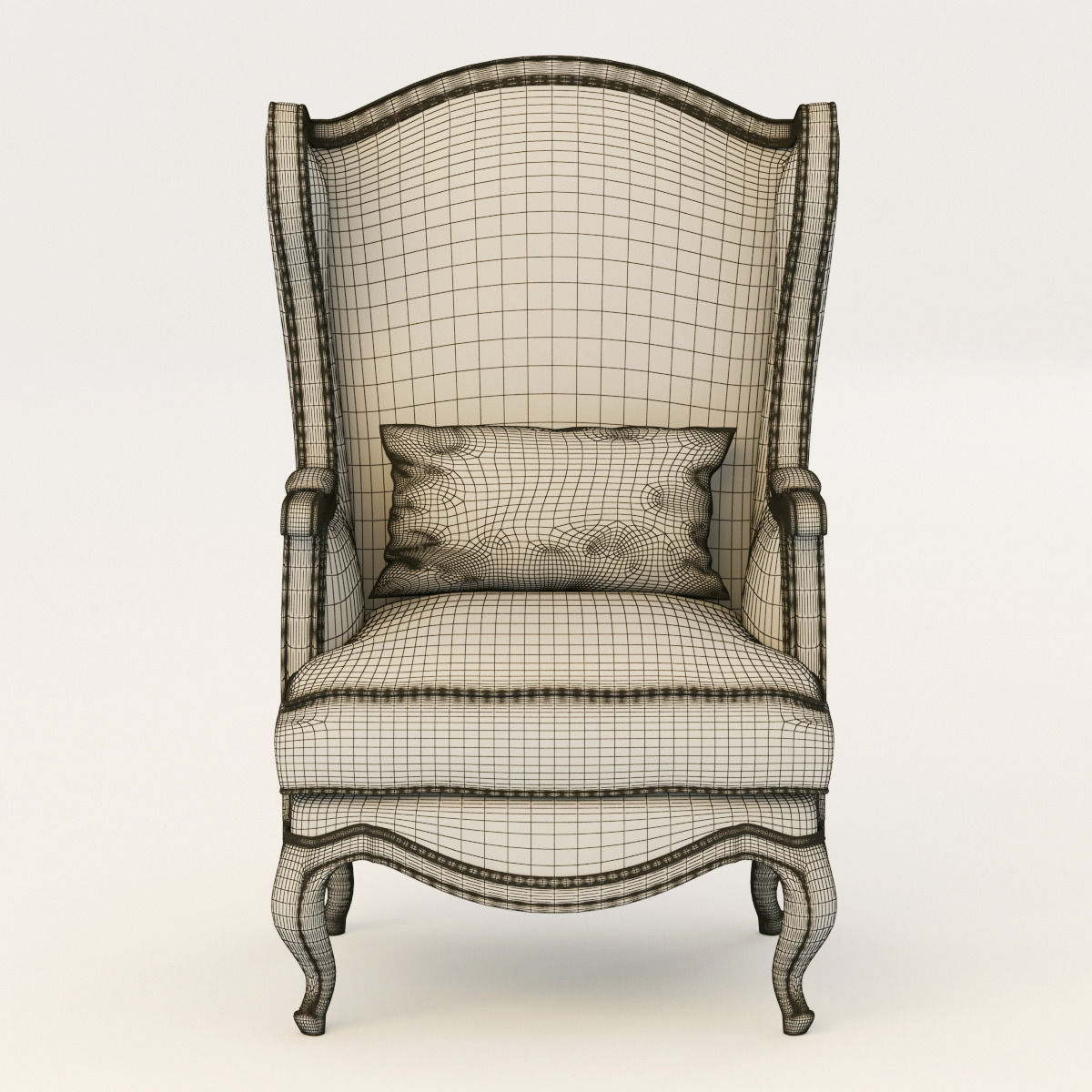 Country corner chateau armchair 3d model max obj fbx for The country corner