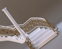3D model classical staircase 2