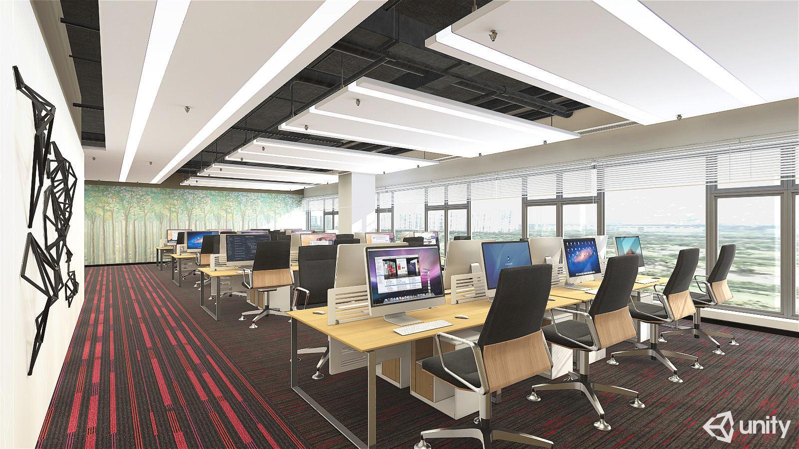 Office01 VR AR Game Ready | 3D model