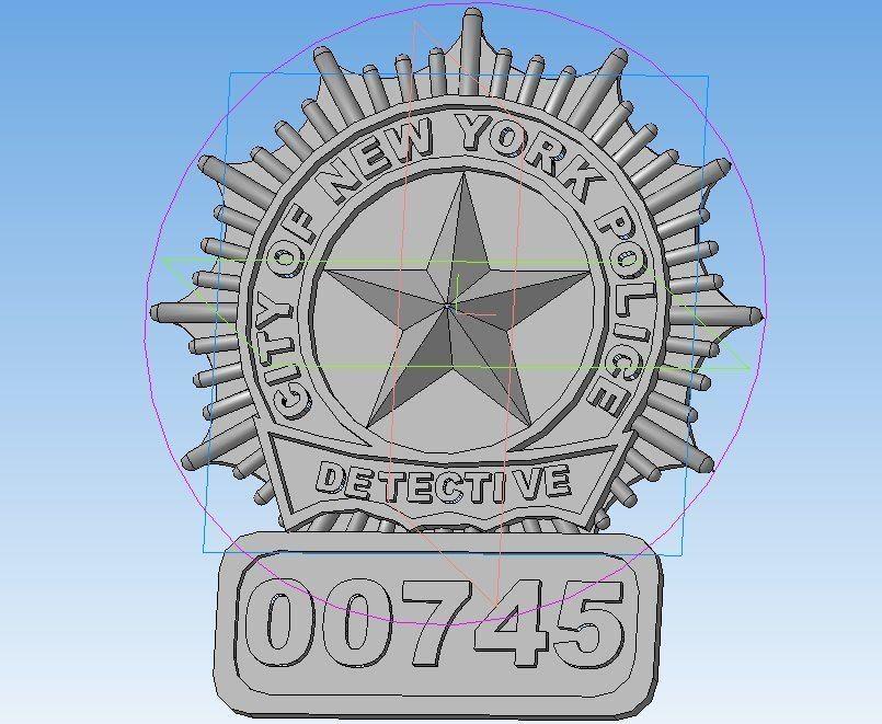 New York  police detective badge
