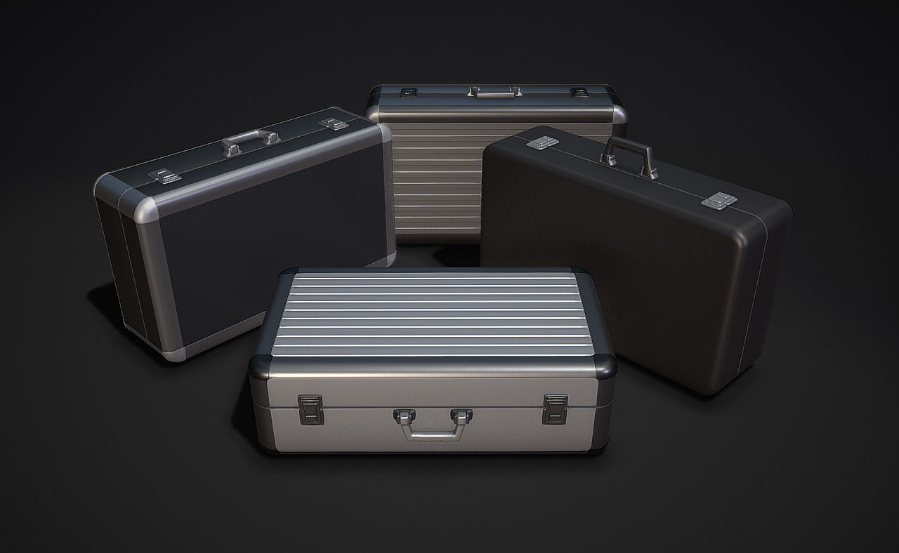Metal Briefcases - Low and High Poly Models