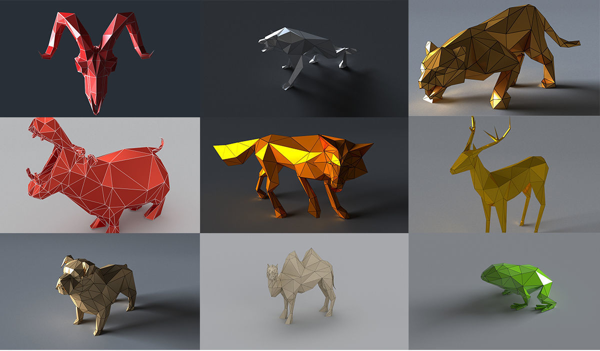 3d models for animals for papercraft or 3d printing | 3D Model Collection