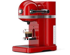 3D model Red Espresso Machine