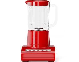 3d red countertop blender