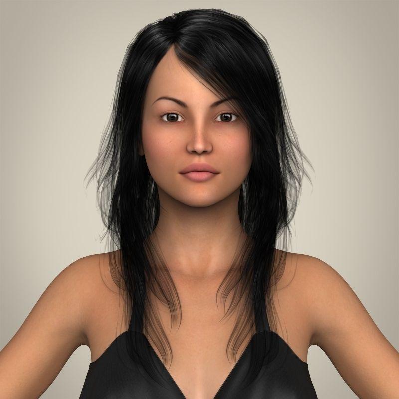 Realistic Sexy Babydoll Girl 3D Model