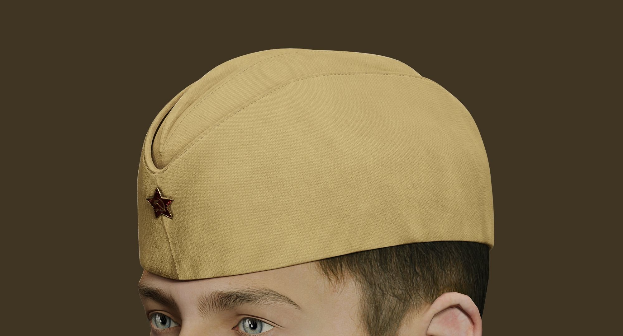 Military Soviet Soldier side cap of Infantry