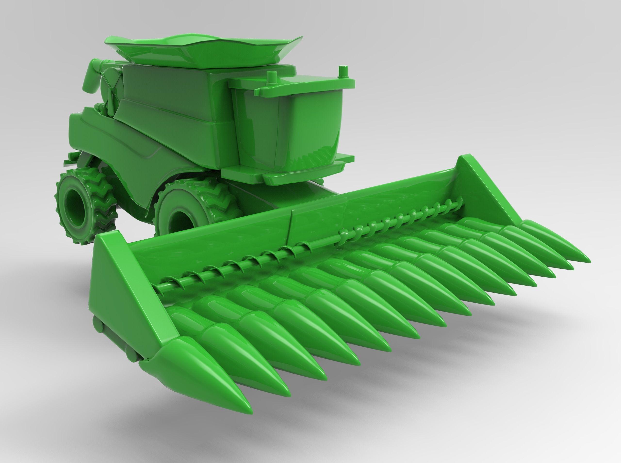 Combine Harvester with Corn Head | 3D model