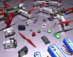 Multicopters  Pack 3D Model