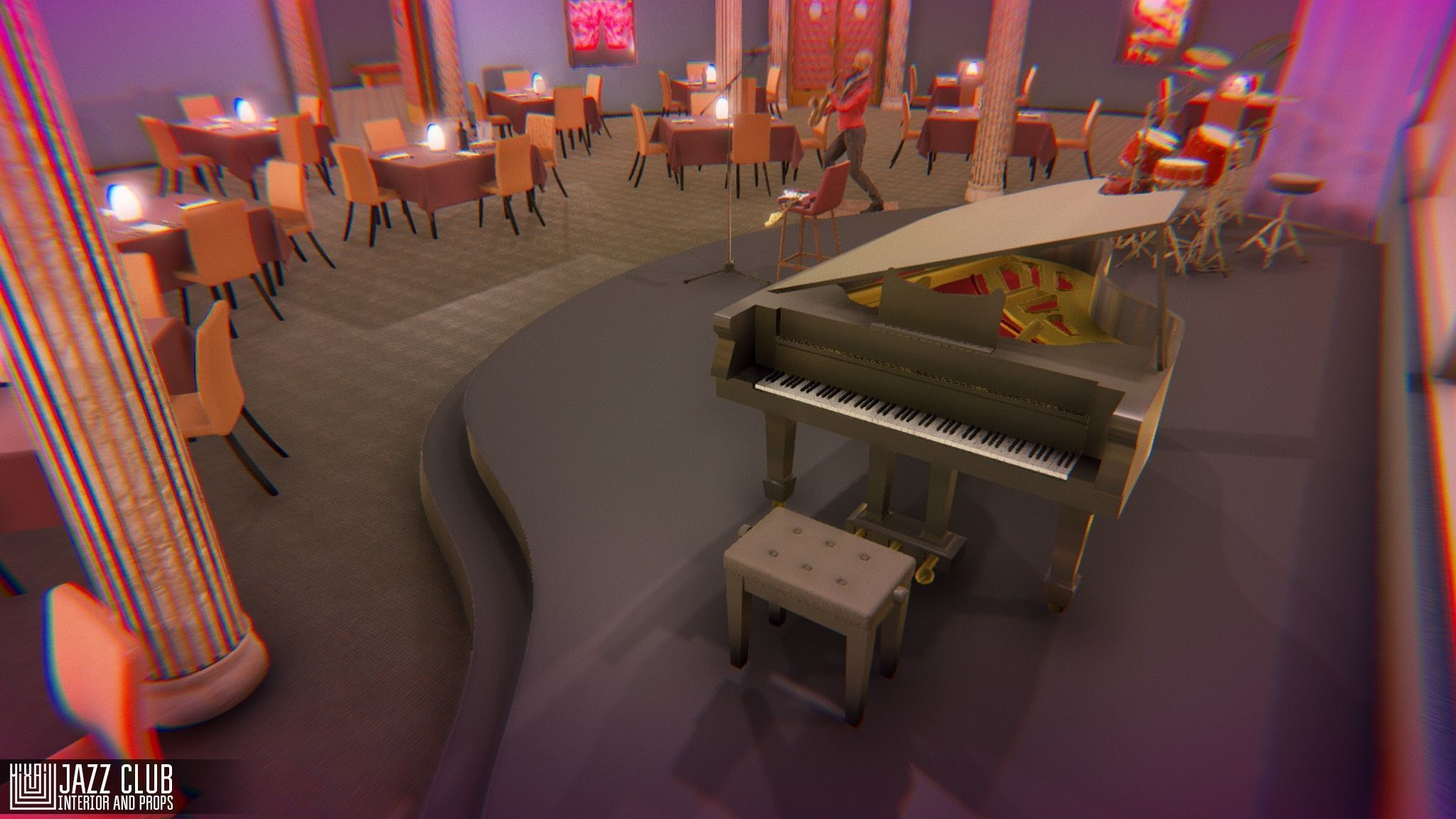 Jazz club - interior and props