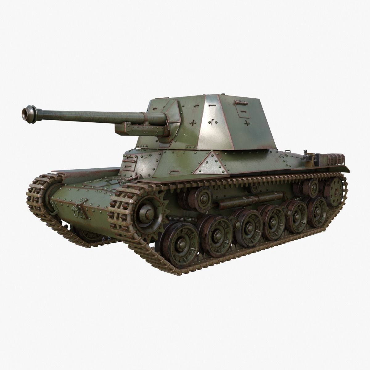 Tank Type 3 Ho Ni III Japan Mental Ray