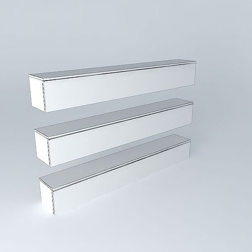 Besta Burs Wall Shelf Red : Besta Burs Wall shelf 3D Model MAX OBJ 3DS FBX STL SKP  CGTradercom