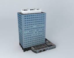 3D model Office Building building structures