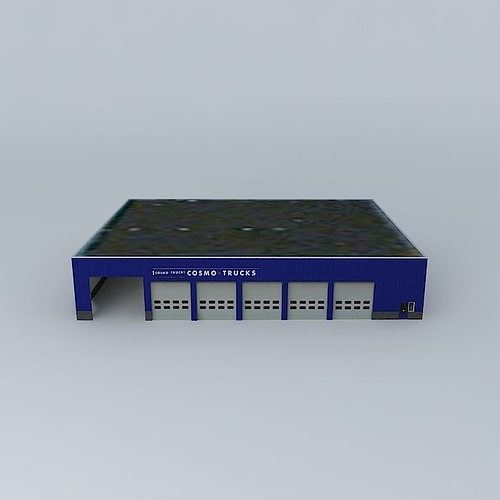 industrial building 3d model max obj mtl 3ds fbx stl skp 1