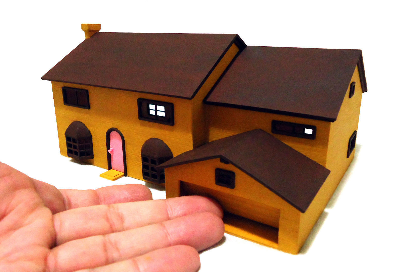 The Simpsons House 3d Model 3d Printable Stl Cgtrader Com