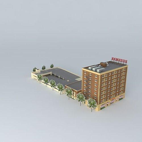 hotel rushman 3d model max obj 3ds fbx stl skp 1