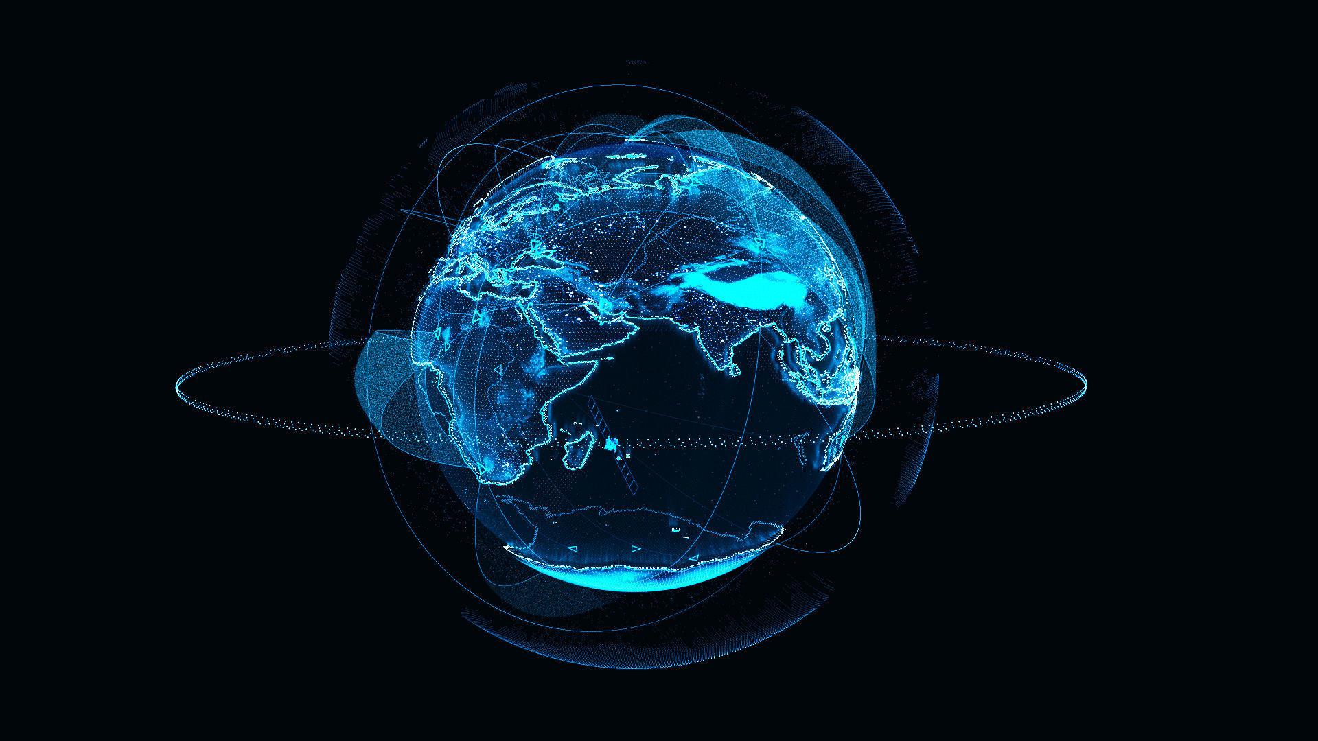 Animated Hologram Planet Earth v4
