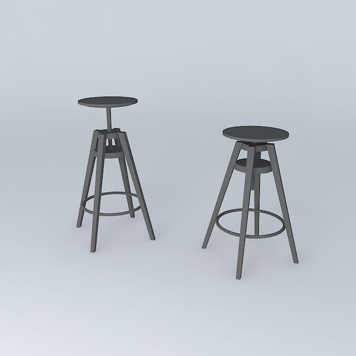 ... dalfred bar chairs 3d model max obj 3ds fbx stl skp 2 ... - DALFRED Bar Chairs 3D Model MAX OBJ 3DS FBX STL SKP