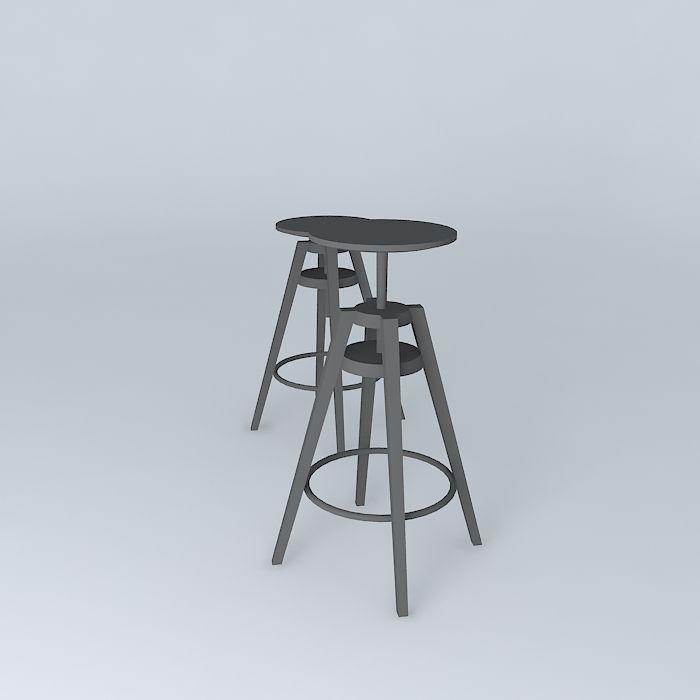 ... dalfred bar chairs 3d model max obj 3ds fbx stl skp 3 ... - DALFRED Bar Chairs 3D Model MAX OBJ 3DS FBX STL SKP