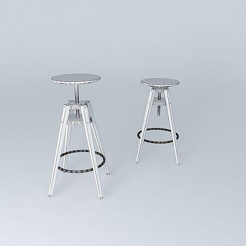 ... dalfred bar chairs 3d model max obj 3ds fbx stl skp 5 - DALFRED Bar Chairs 3D Model MAX OBJ 3DS FBX STL SKP