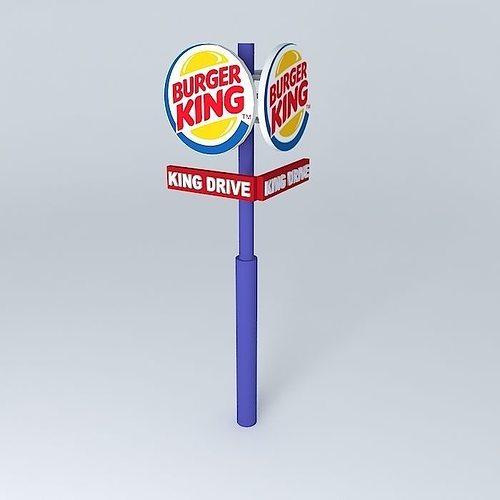 burger king column 3d model max obj mtl 3ds fbx stl skp 1
