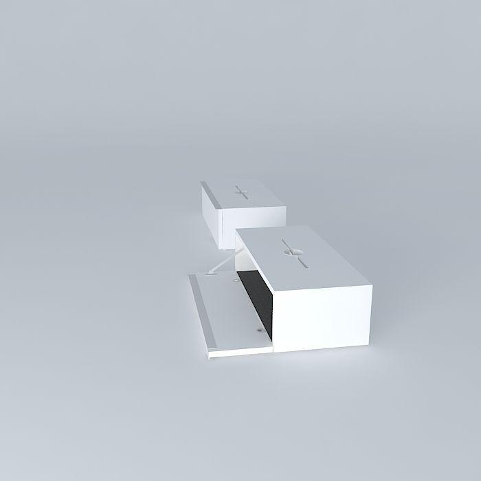 Ikea Ludvig Router Modem Wall Cabinet 3d Model Max Obj