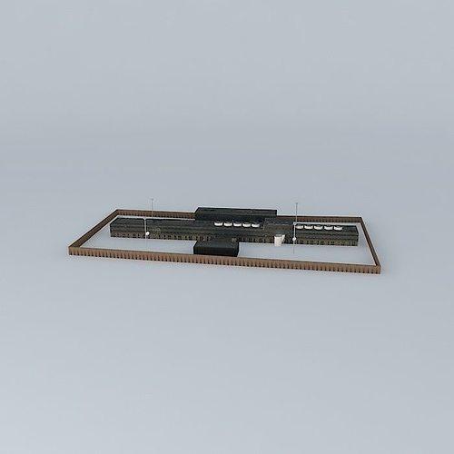 prison 3d model max obj mtl 3ds fbx stl dae 1