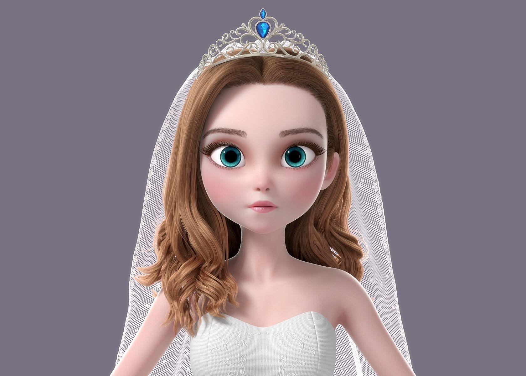 Cartoon Bride NoRig