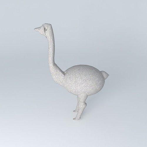 ostrich statue 3d model max obj mtl 3ds fbx stl dae 1