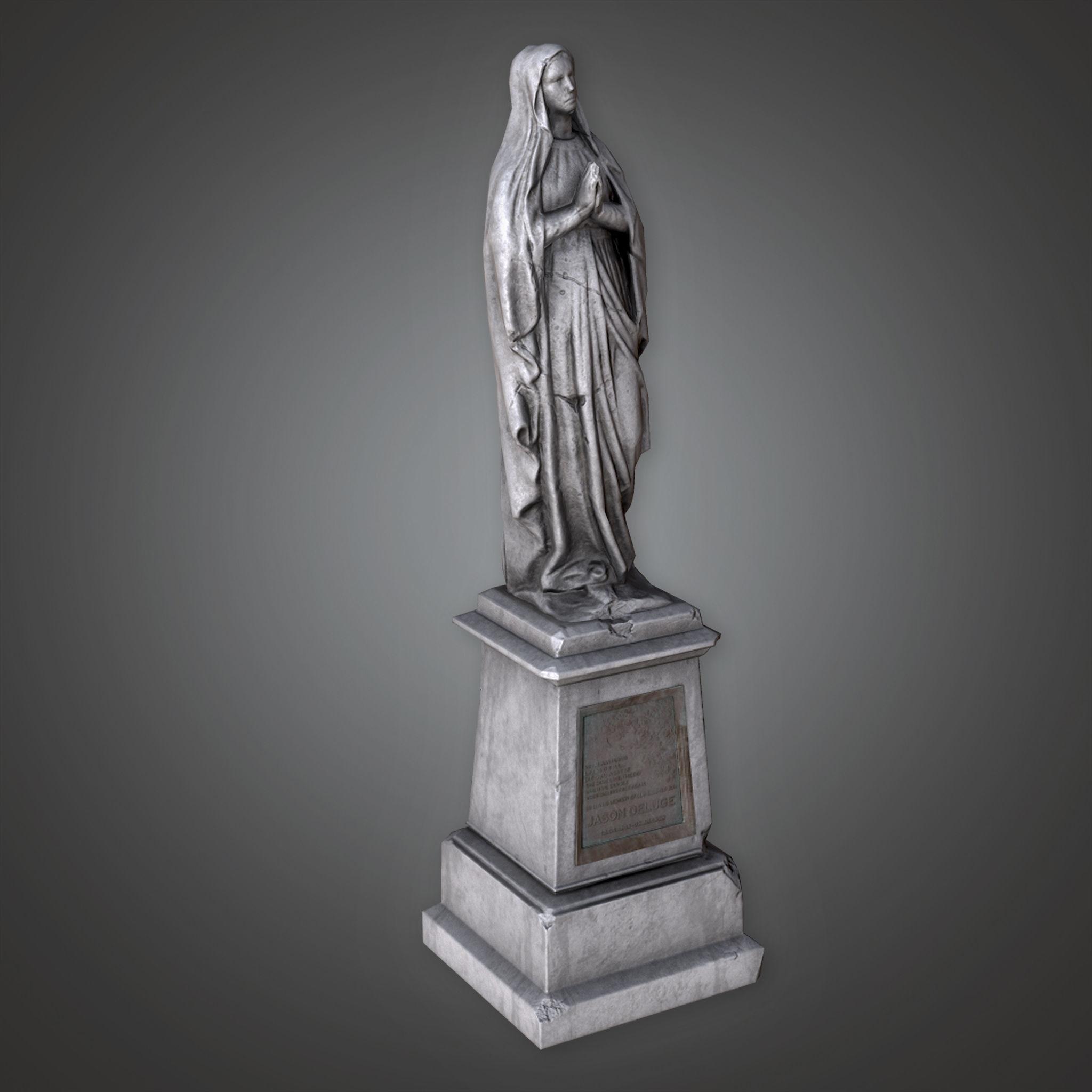 CEM - Stone Statue Cemetery 7 - PBR Game Ready