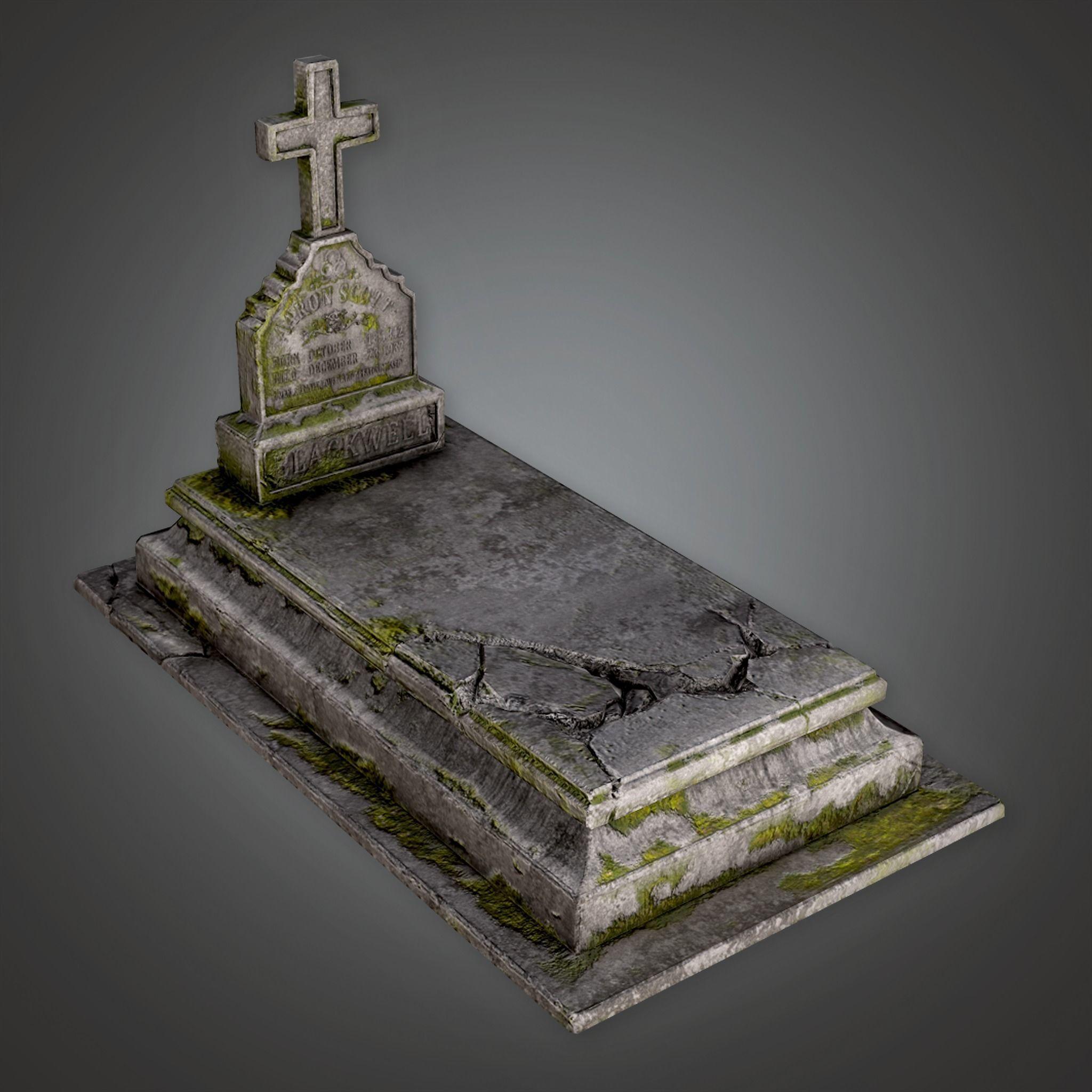 CEM - Stone Grave Cemetery 6 - PBR Game Ready
