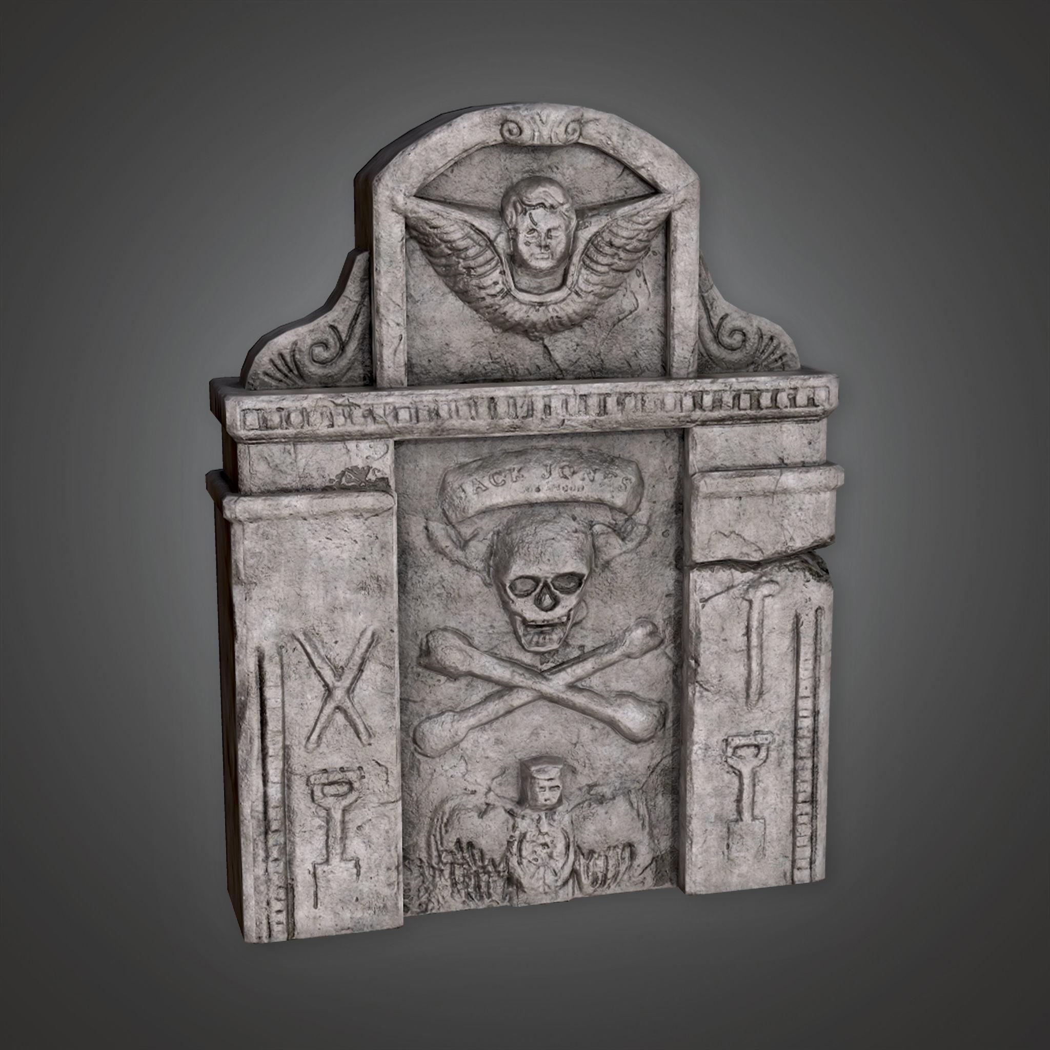 CEM - Grave Stone Cemetery 12 - PBR Game Ready