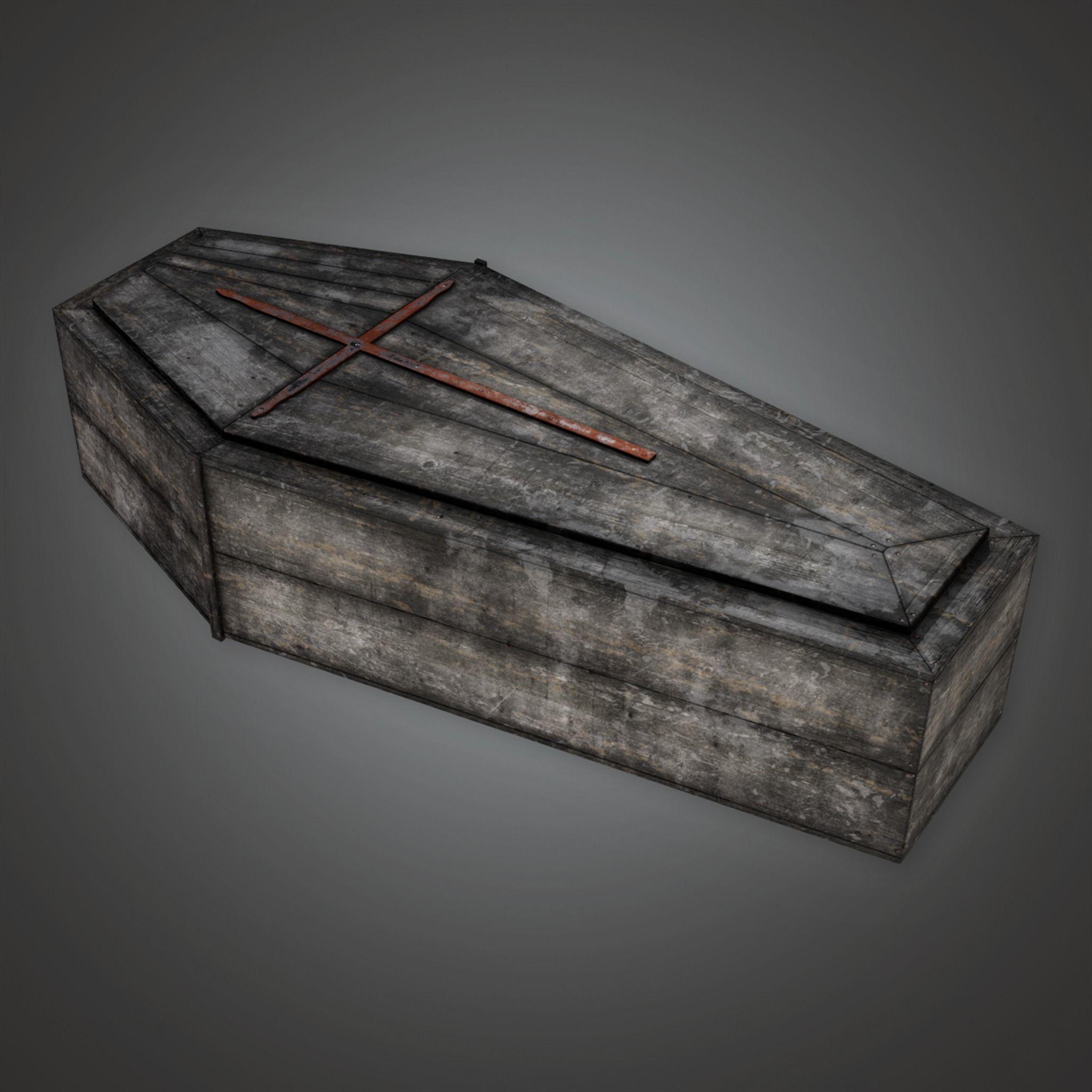 CEM - Cemetery Coffin 4 - PBR Game Ready