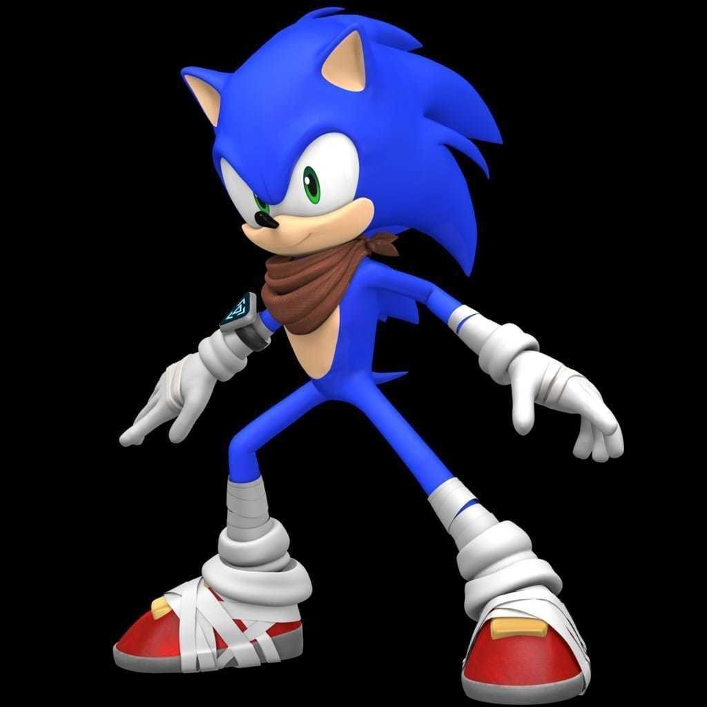 Sonic The Hedgehog Art 3d Printable Model Cgtrader