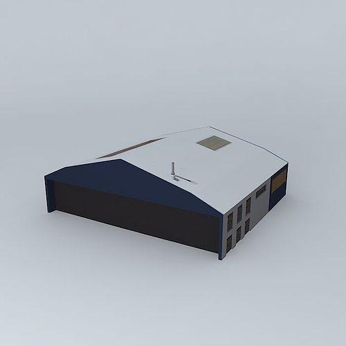 storage building 3d model max obj mtl 3ds fbx stl skp 1
