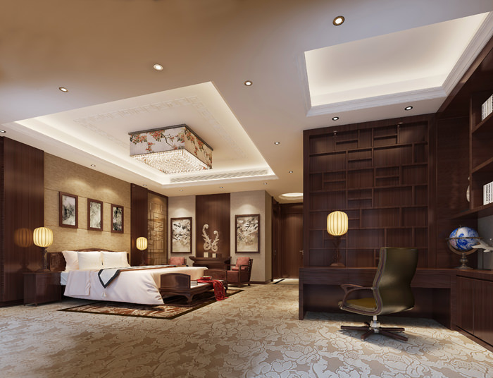 Luxurious Hotel Room 3d Model Max