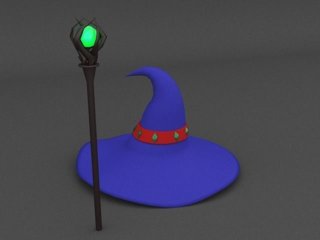 Low Poly Wizard Hat