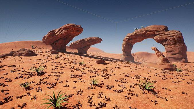 Stylized Desert Pack Game Ready