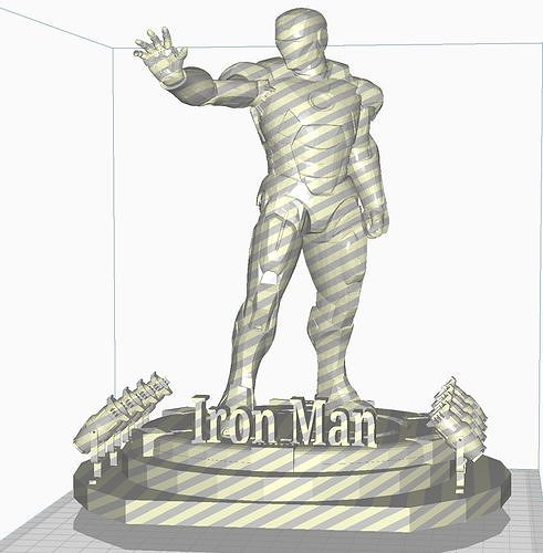 Iron Man with Led Spot STL Format