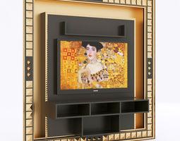 vismara home cinema entertainment center 3d model
