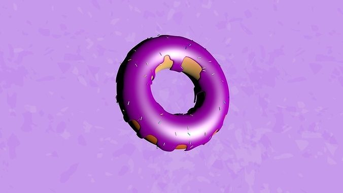3D Low poly donuts