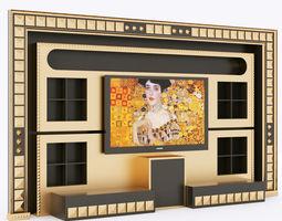 vismara wall piramid entertainment center 3d
