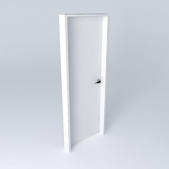 porta de 80cm free 3d model max obj 3ds fbx stl skp