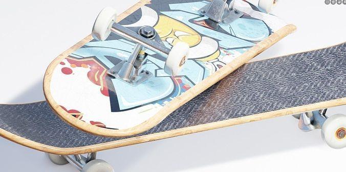 well modeled skateboard