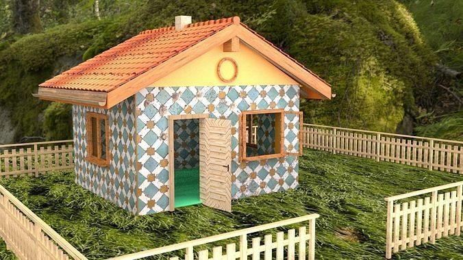 beautiful rural house