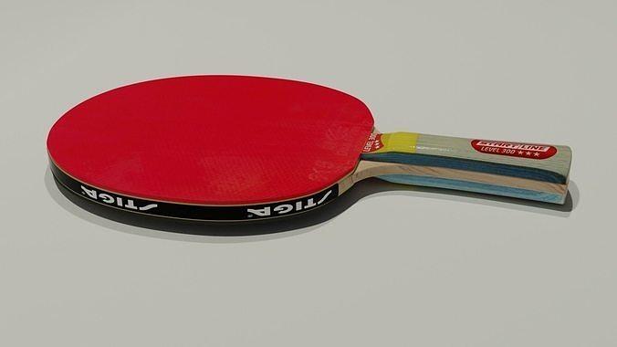 Table tennis racket 3D model