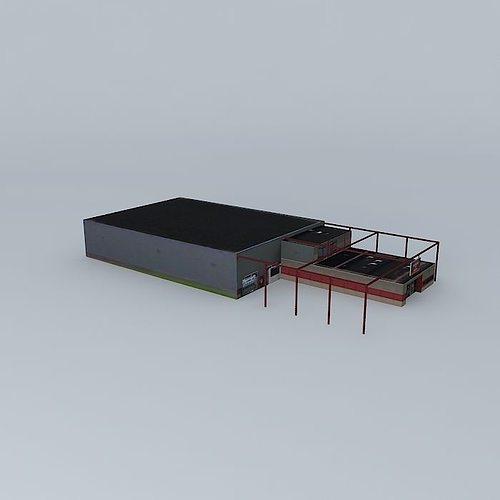 industrial building 3d model max obj mtl 3ds fbx stl dae 1