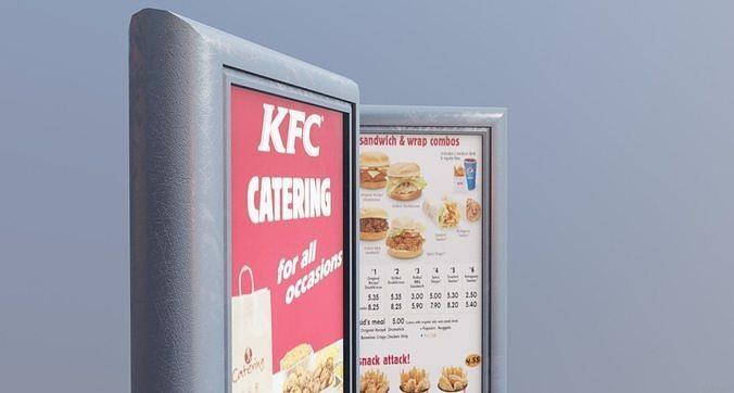 restaurant small menu billboard